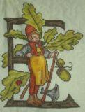 Blumenalphabet E