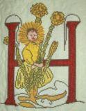 Blumenalphabet H