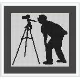Stickvorlage Fotograf modern