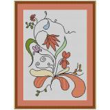 Stickvorlage Blumenarrangement