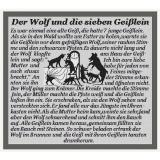 Stickpackung Der Wolf und die 7 Geißlein
