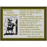 Stickvorlage Bremer Stadtmusikanten
