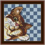 Stickvorlage Schlummerkatze