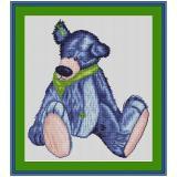 Stickvorlage Knopfbär