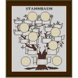 Stickvorlage Stammbaum