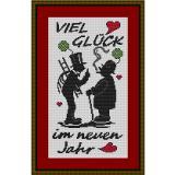 Stickvorlage Viel Glück im Neuen Jahr