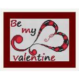 Stickvorlage Herz modern1,be my valentine