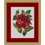 Stickvorlage Rosenblüte