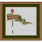 Stickpackung Flagge 1 grün