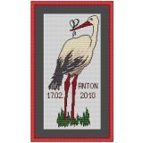 Stickvorlage Storch