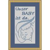 Stickvorlage Unser Baby