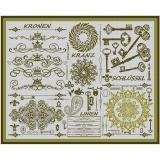 Stickvorlage Ornamententuch 1