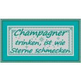 Stickpackung Spruch12 Champagner