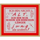 Stickvorlage Spruch13 Alter