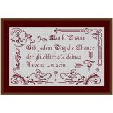 Stickvorlage Spruch 10 MarkTwain
