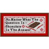 Stickvorlage Spruch 11 Schokolade