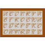 Stickvorlage Initialien-Alphabet