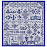 Stickvorlage Ornamententuch 2