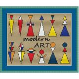 Stickvorlage Modern 1