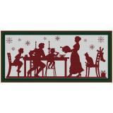Stickvorlage Weihnachtsessen