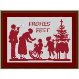 Stickpackung Weihnachtsfest