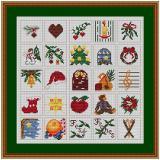 Stickvorlage Weihnachtskalender