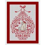 Stickvorlage Weihnachtsornament