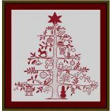 Stickvorlage Weihnachtsbaum