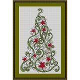 Stickvorlage Blütenbaum