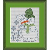 Stickpackung kleiner Schneemann