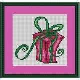 Stickvorlage Weihnachtspäckchen