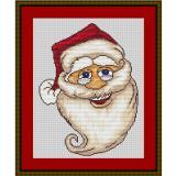 Stickvorlage Weihnachtskopf