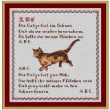 Stickvorlage ABC, die Katze...