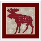 Stickvorlage Weihnachtselch 2