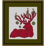 Stickvorlage Weihnachtselch 3