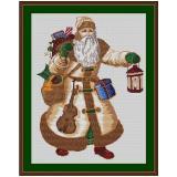 Stickvorlage Weihnachtsmann